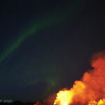 volcanic eruption and northern lights